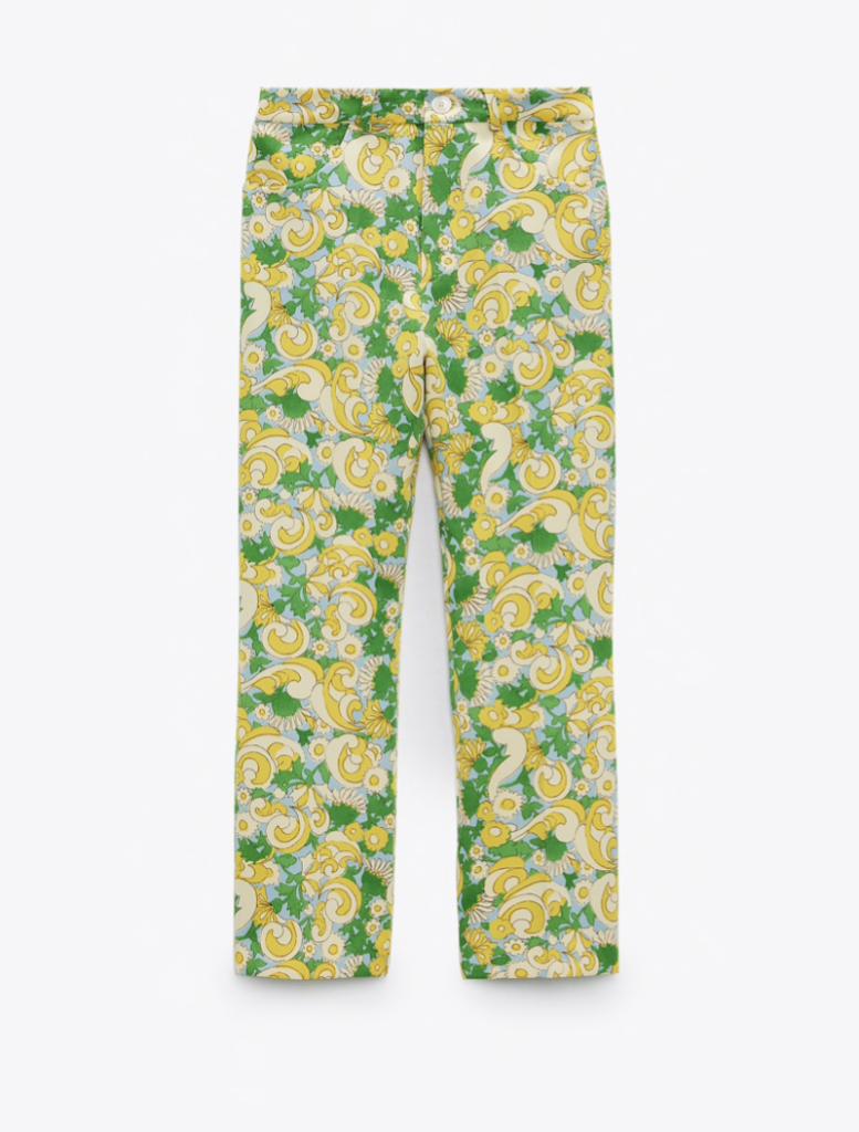 Zara Printed Pants ($49.90)
