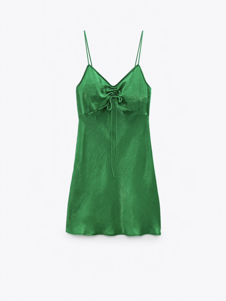 Zara Satin Lingerie Style Dress ($39.90)