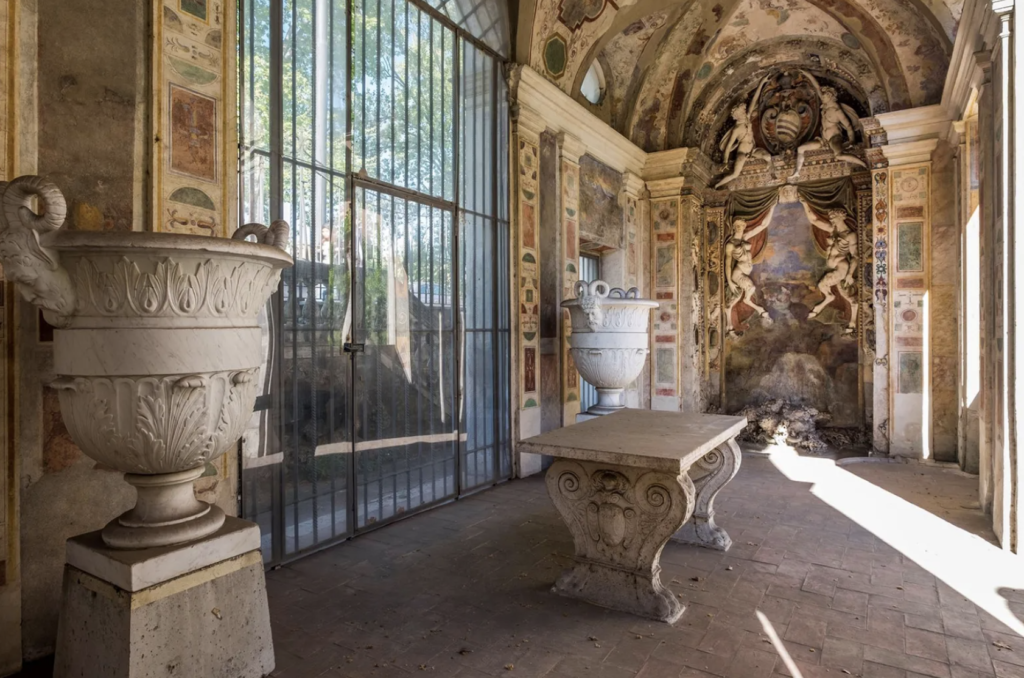 An exquisite escape from the heat during Renaissance times, this intricate outdoor abode is a magnificent relic.