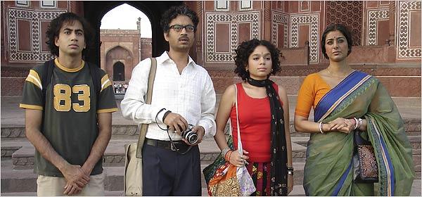 From left to right: Kal Penn, Irrfan Khan, Sahira Nair, and Tabu in The Namesake.