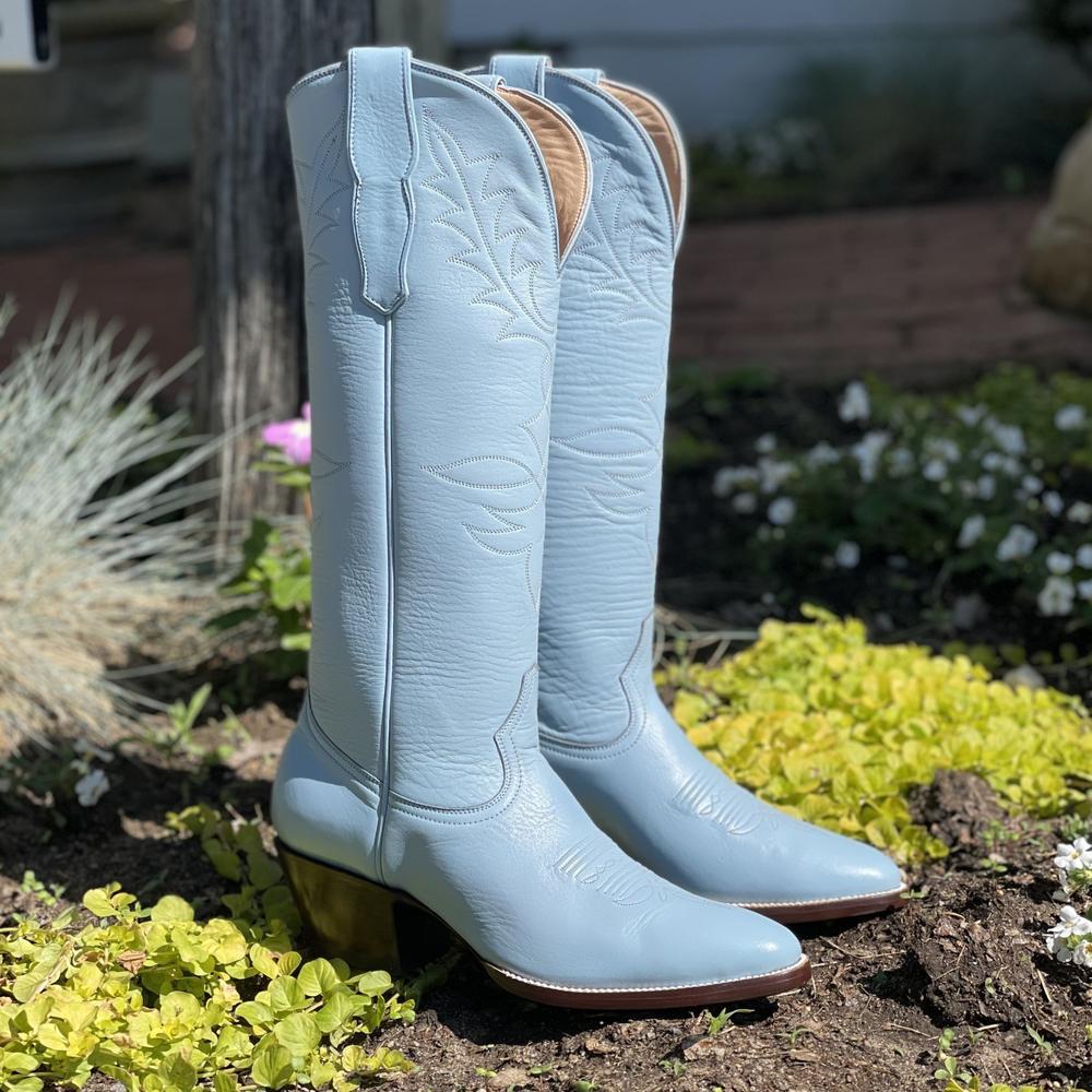 The Inwood Powder Blue Cowboy Boots